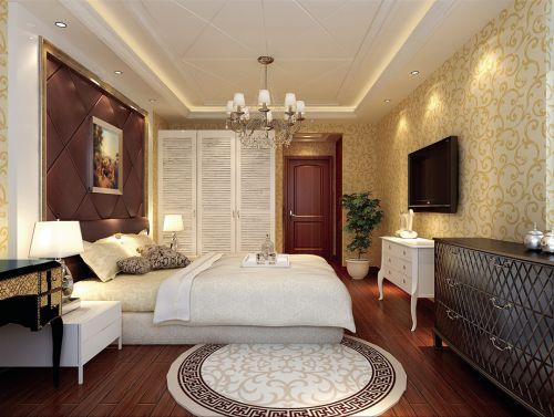 欧式风格二居室卧室装修效果图