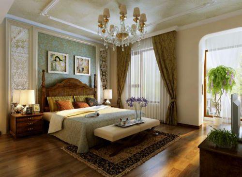 欧式古典别墅卧室装修图片欣赏