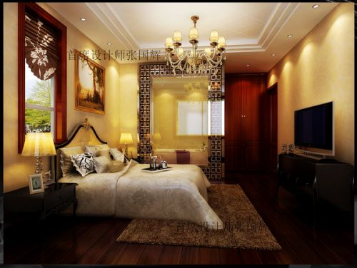 欧式奢华别墅卧室装修图片欣赏