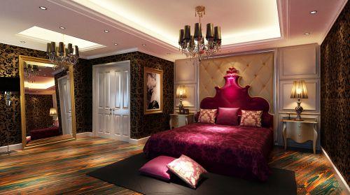 欧式奢华四居室卧室装修效果图大全