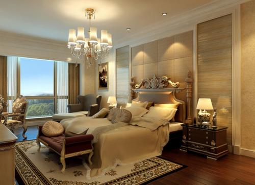欧式新古典别墅卧室装修效果图