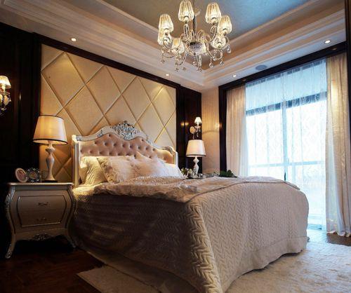 时尚欧式典雅风格卧室床头背景墙效果图