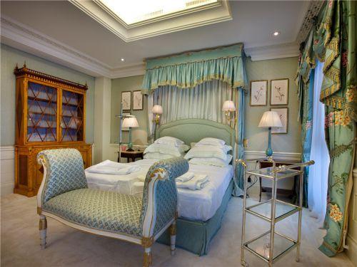 田园风格三居室卧室飘窗装修效果图大全