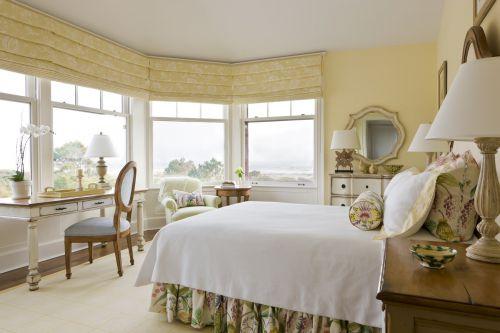 温馨田园风格暖色卧室装修实景图