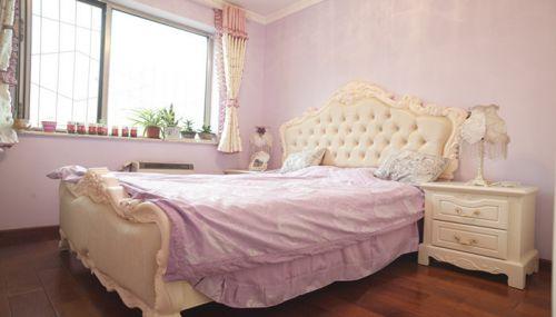 田园风格二居室卧室窗帘装修效果图