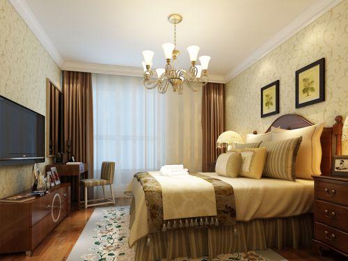 田园风格二居室卧室装修效果图