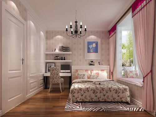 田园风格二居室卧室书架装修图片
