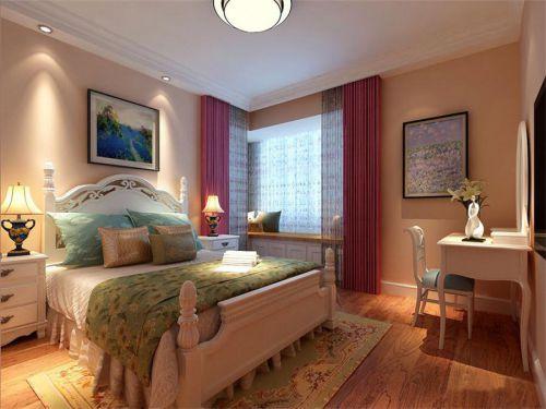 田园风格四居室卧室吊顶装修效果图