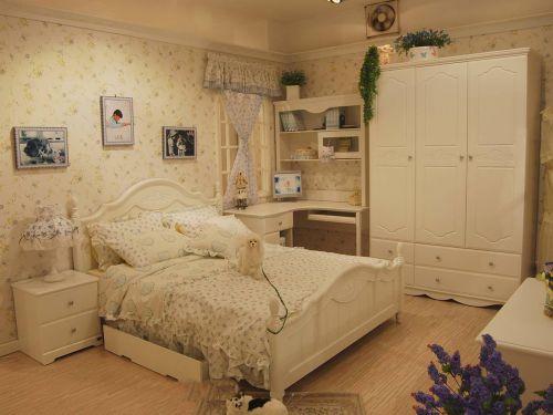 田园风格二居室卧室装修图片欣赏