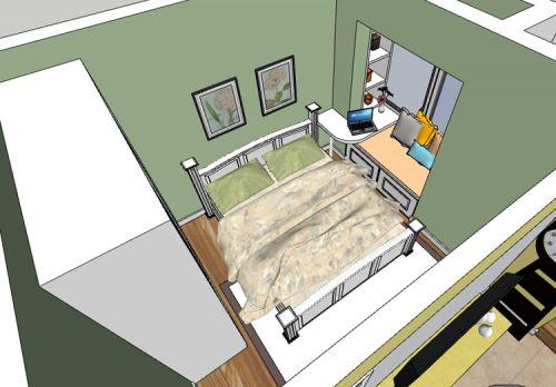 田园风格一居室卧室照片墙装修效果图