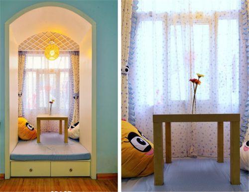 田园风格二居室卧室飘窗装修效果图大全