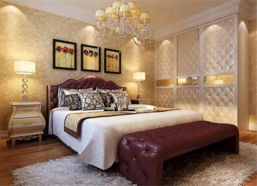 田园风格二居室卧室背景墙装修效果图欣赏
