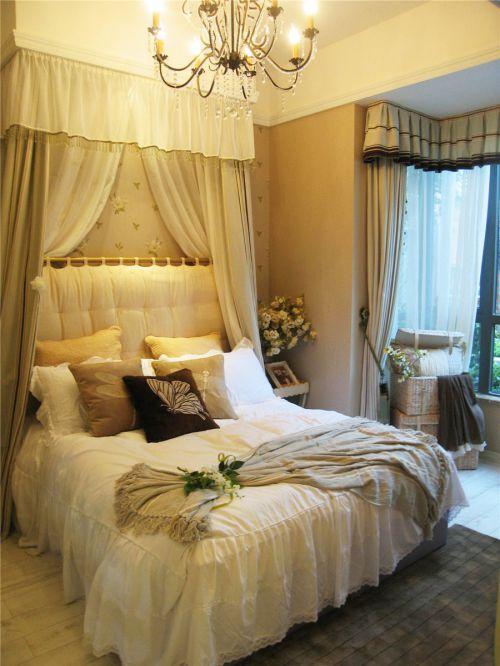 田园风格三居室卧室灯具装修图片