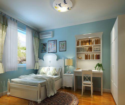 田园风格二居室卧室背景墙装修图片