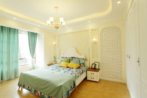 田园风格二居室卧室吊顶装修效果图大全