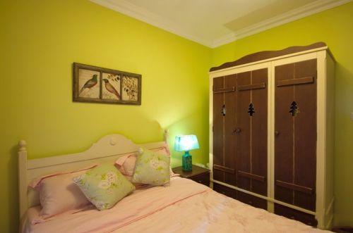 田园风格二居室卧室灯具装修效果图大全