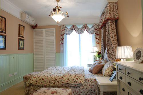 田园风格四居室卧室床头柜装修效果图欣赏