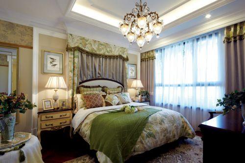 田园风格四居室卧室吊顶装修效果图欣赏