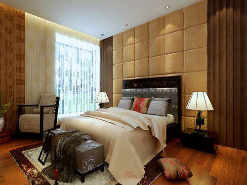 田园风格四居室卧室窗帘装修效果图大全