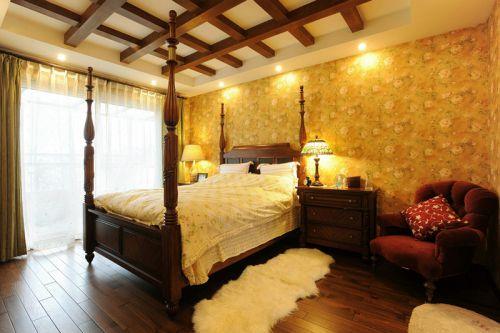 田园风格六居室卧室床头柜装修效果图大全