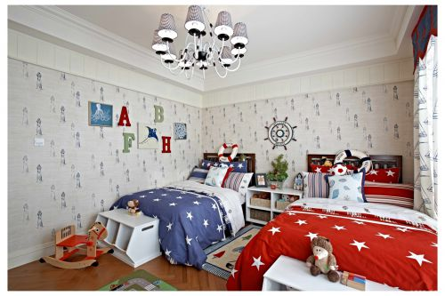 田园风格四居室卧室窗帘装修效果图欣赏