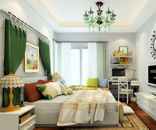 田园风格二居室卧室电视柜装修效果图