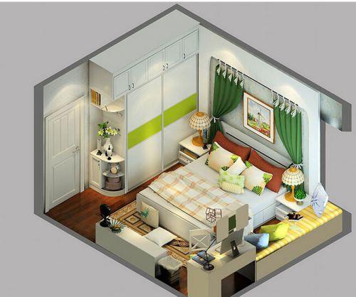 田园风格二居室卧室床头柜装修图片
