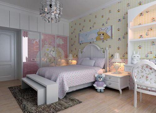 田园风格二居室卧室衣柜装修效果图