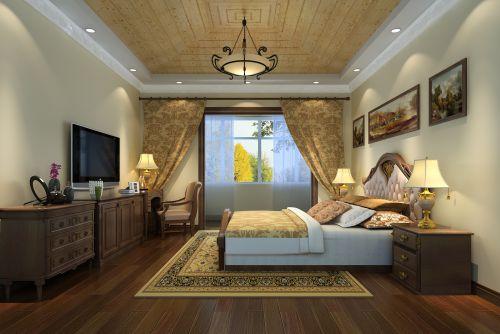 美式田园五居室卧室装修图片欣赏