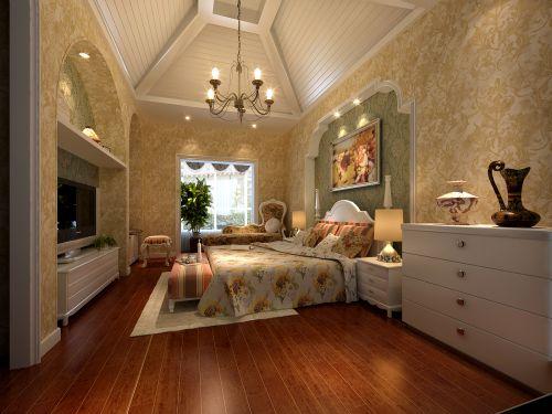 美式田园五居室卧室装修效果图