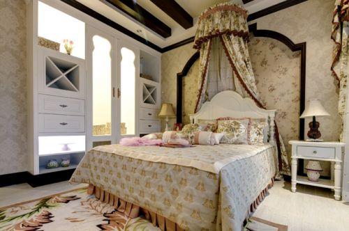 美式田园三居室卧室装修效果图欣赏