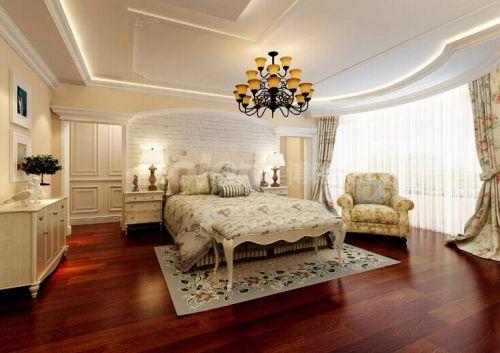 田园风格四居室卧室飘窗装修效果图