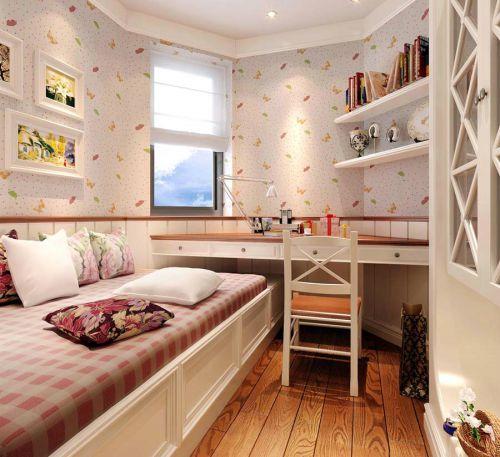田园风格二居室卧室飘窗装修图片