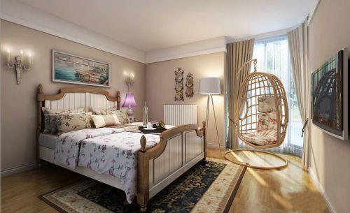 田园风格三居室卧室婴儿床装修效果图欣赏