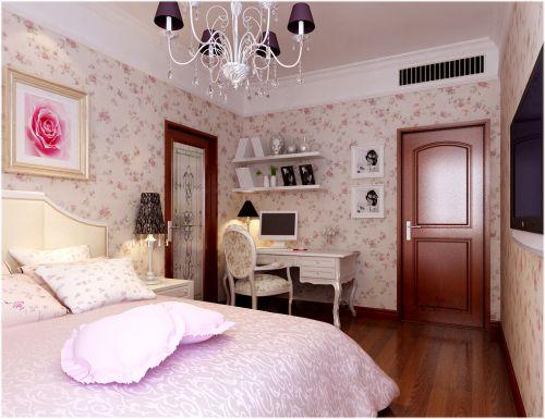 田园风格三居室卧室吊顶装修效果图大全