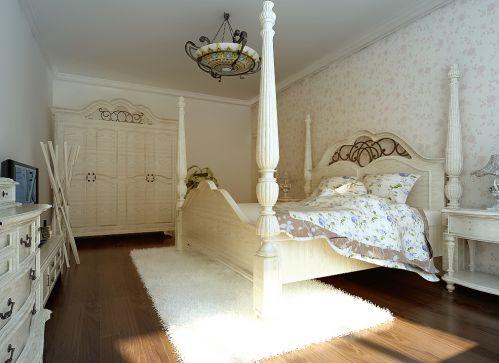 田园风格三居室卧室组合柜装修效果图欣赏