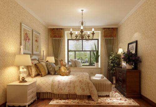 田园风格二居室卧室照片墙装修效果图大全