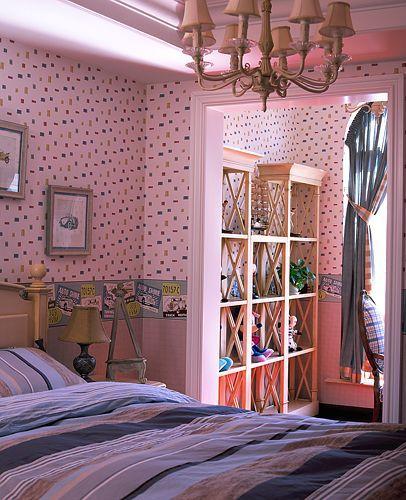 田园风格四居室卧室装修效果图