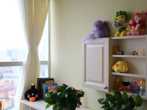 田园风格三居室卧室梳妆台装修效果图大全