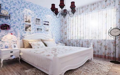田园风格一居室卧室装修效果图大全