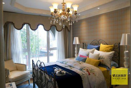 田园风格三居室卧室床装修效果图大全