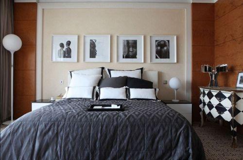 美式田园二居室卧室装修效果图大全
