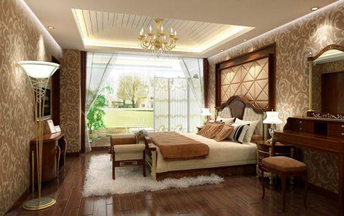 田园风格二居室卧室飘窗装修效果图欣赏