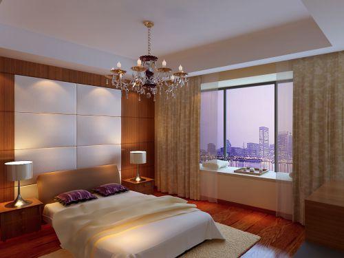田园风格一居室卧室吊顶装修效果图欣赏