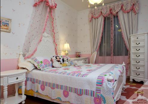 田园风格五居室卧室装修图片