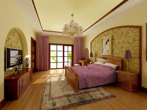 田园风格别墅卧室装修效果图