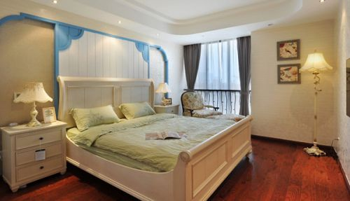 美式田园三居室卧室装修图片欣赏