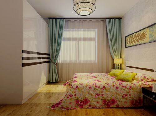 田园风格三居室卧室灯具装修效果图欣赏