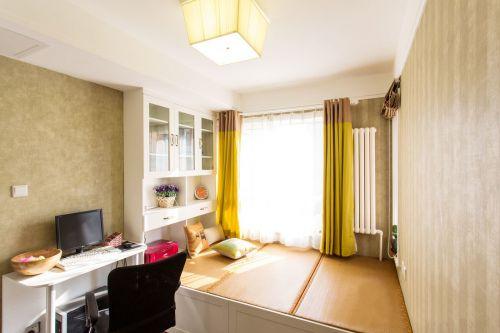 田园风格二居室卧室榻榻米装修效果图欣赏