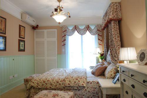 田园风格二居室卧室床装修效果图大全